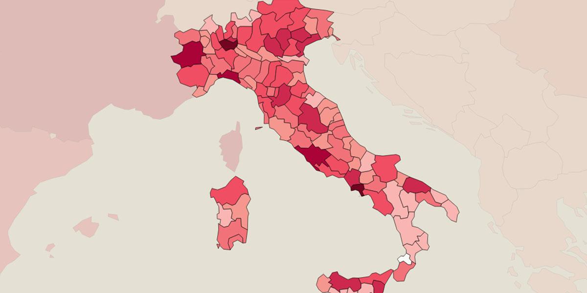 mappa virus brescia