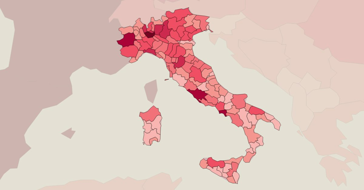 Cartina Italia E Province.Coronavirus In Italia I Dati E La Mappa