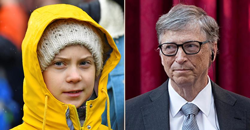 Greta contro Gates: due ricette opposte contro il climate change